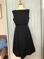 NWT £540 Marc by Marc Jacobs cotton-silk faille dress. Boatneck. US 10.