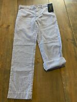 NWT POLO Ralph Lauren Boy's Sport Chino Pants Stripes Adjustable Waist Size: 6
