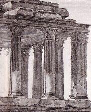 Gravure XVIIIe Tombeau de Milas Mylasa Mylasus Greece Turkey