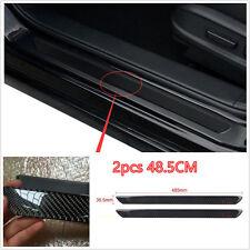 2x48.5CM Universal Carbon Fiber Car Door Scuff Plate Sill Cover Panel Protector