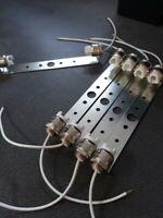 6 x R7s lamp holder socket kit LED halogen 118mm  lamps VDE CE DIN approved
