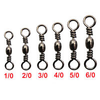 100Pcs Fishing Swivel Fishing Barrel Swivel Tackle Accessories Connector 2#-10#