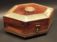 Antique Vintage Style Victorian Small Heavy Hardwood Jewelry Box