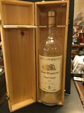 """SANTA MARGHERITA 18"""" MT GLASS WINE BOTTLE WITH WOOD DOVETAIL JOINTED BOX"""