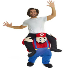 New Carry Me super Mario Ride On Piggy Back Mascot costume fancy party dress ~