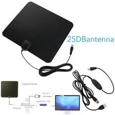 Flat HD Digital Indoor Amplified TV Antenna HDTV 50 Mile Range Useful DL
