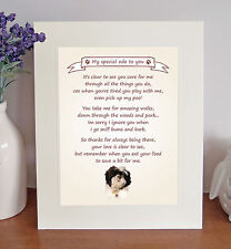"Shih Tzu 10"" x 8"" Free Standing 'Thank You' Poem Fun Novelty Gift FROM THE DOG-2"