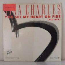 "Tina Charles – You Set My Heart On Fire (Hot Mix) (Vinyl, 12"", MAXI 45 TOURS)"