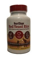 Heart Shape Natural Organic Red Yeast Rice 90 Vegetarian Capsules