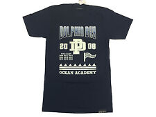 Dolphin Bay Pink Dolphin T Shirt in Navy