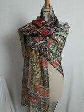 GF05/ Grand Foulard châle étole en mousseline de soie 60% 90x170cm muslin shawl