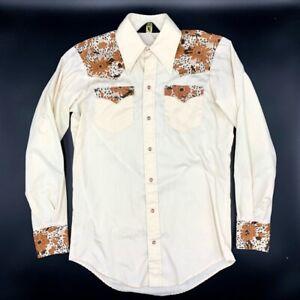 Embroidered blouse White blouse Vintage suit blouse Size M