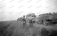 Photo Negativ-6.Armee-sd,kfz-russland-Wehrmacht-Fahrzeuge-lkw-konvoi