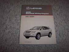 2008 Lexus RX 400h RX400h Factory Original Electrical Wiring Diagram Manual Book