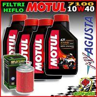 Inspection Set MOTUL 7100 10W40 + Oil Filter Mv Agusta Brutale 1090 RR 2014 2015