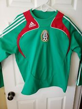 Rare ADIDAS Mexico National Team 2008 Long Sleeve Training Top Men's Large
