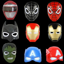 Kids Halloween Creative Luminous LED Spiderman Hulk Batman Face Mask Cosplay 1PC
