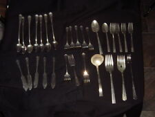 Silver Plated Flatware Vintage Mixed Lot of 30 Spoons Forks Serving Pieces