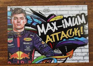 2020 Topps Chrome Formula 1 TT-5 Max Verstappen Track Tags Max-imum Attack F1