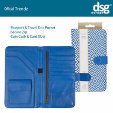 Trendz Blue Geometric Travel Wallet Floral Holiday Passport Document Holder
