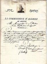 V345-REP.CISALPINA-EN TETE REGGIO EMILIA 1798