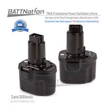 2 x Extended 3.0AH NI-MH 7.2V DW9057 DE9057 DE9085 Battery for DEWALT Power Tool