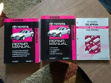 1998 Toyota Supra Factory Service Repair Manuals (FSM) and Wiring Diagram Manual