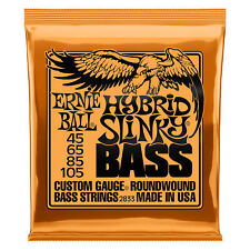 Ernie Ball 2833 Hybrid Slinky Bass Guitar Strings 45 105 Orange Free US Shipping