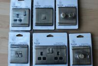 Home of Style Raised Slimline Screwless Antique Brass Switches Sockets Dimmers