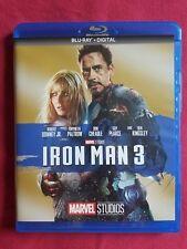 Iron Man 3 Blu-ray NO DIGITAL CODE