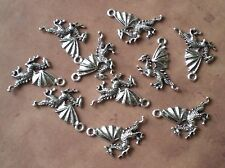 10 Flying Dragon Winged Charm Pendants For Jewelry Making Halloween
