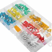120pc Assorted Automotive Car Auto Bike Mini Blade Fuses Set 5 10 15 20 25 30Amp