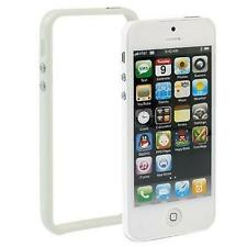 COVER BUMPER + PELLICOLA DISPLAY PER APPLE IPHONE 5 5G BIANCO SLIM SOTTILE CASE