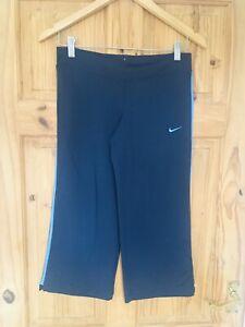 Nike Fit Dry Small Blue Capri Cropped Leggings Yoga Gym Fitness