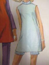 Vintage 60's Simplicity 7360 MINI DRESS w/ SHORTY PANTS Sewing Pattern Women