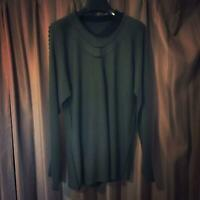 ISSEY MIYAKE PULLOVER LONG SLEEVE USED JAPAN BRAND MEN RARE KHAKI 2 MEDIUM M F/S