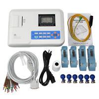 US stock Digital single channel 12-lead ECG/EKG machine Electrocardiograph ,FDA