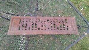 Vintage Cast Iron Floor Fireplace Grate 20 X 6