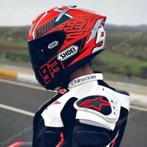 SHOEI Full Face Racing Motorbike Motorcycle Helmet X14 93 Marquez Red ANT Riding