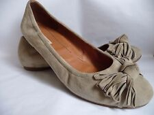 PAUL GREEN Womens Shoes Size 6.5*40*Beige Suede*Leather Inside*Flat*VGC