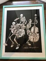 Rockin' Jelly bean RUDE CATS Silk Screen Poster Limited 80 with frame Japan F/S