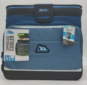 Arctic Zone Zipperless Cooler 24 Can Capacity Hardbody Liner & Smart Shelf New