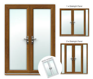 Made to Measure Golden Oak uPVC French Patio Doors / UK Manufactured / Quality