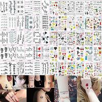 Multi Pattern Letter Temporary Removable Waterproof Tattoo Body Art Sticker New