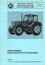 Fendt Favorit 614 LS Turbomatik, orig. DLG- Bericht 1977