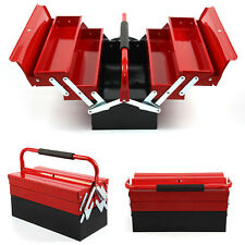 3 Tier 5 Tray Heavy Duty Professional METAL Storage Cantilever TOOL BOX UK