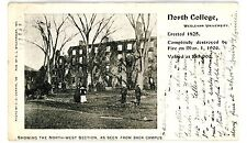 Middletown Conn CT-WESLEYAN UNIVERSITY AFTER FIRE-NORTH COLLEGE-Postcard