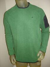 Nwt NordicTrack Fleece Green Sweatshirt Shirt w/Zipper Pocket Cell Phone Mens M