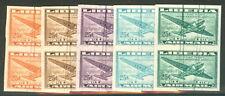 LIBERIA #C61 25¢ Airmail, Spider PROOF Reprint Pairs