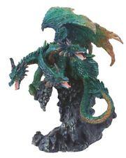 "4.5"" Inch Three Headed Green Dragon Statue Figurine Figure Fantasy Myth"